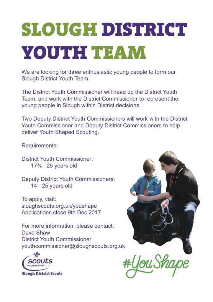 Slough Youth Team advert